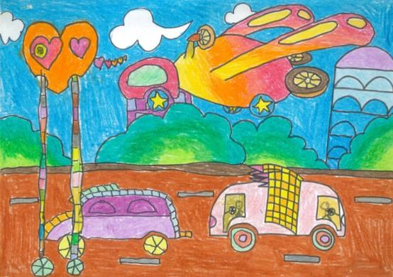 """除面向8个重点城市320所幼儿园师生继续征集""""梦想之车""""儿童画及儿童图片"""