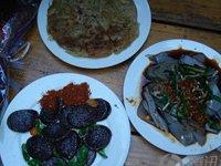纳西香肠、纳西烤鱼、纳西烤肉、纳西米灌肠