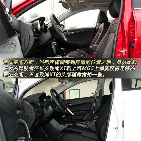 致尚XT对比MG5 10万元自主两厢运动控大PK