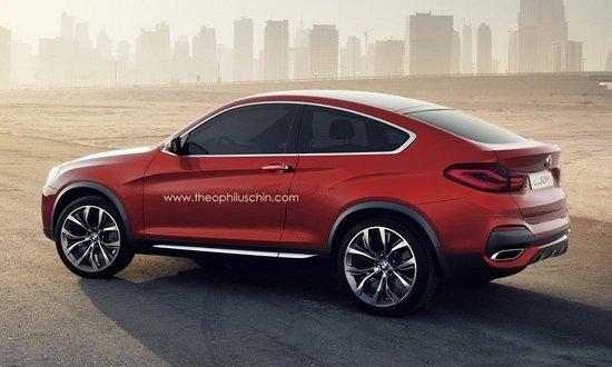 上海车展上,宝马刚刚全球首发了X4概念车