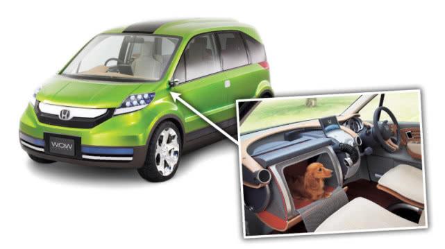 本田推出一款专为养狗人士和狗狗驾乘的概念汽车WOW
