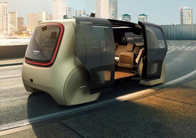 大众发布首辆无人驾驶智能出租车 无方向盘自动运行
