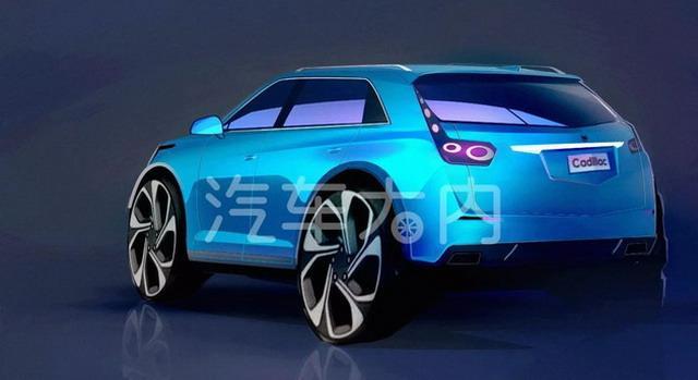 凯迪拉克XT4设计草图曝光 2018北美车展亮相