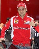 F1车手马萨为法拉利FF揭幕