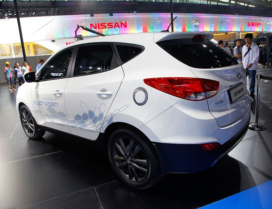 [广州车展探营]现代ix35燃料电池车亮相车展