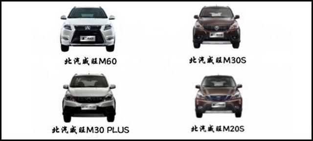 或年内上市 北汽威旺推4款新车型