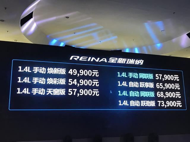 新款现代瑞纳正式上市 售价4.99-7.39万元