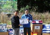 斯巴鲁汽车向宝兴县大熊猫发源地保护区赠送物资