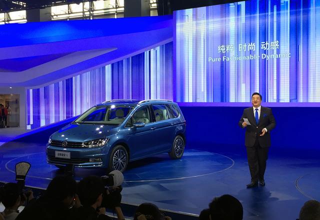 上海大众全新途安L车展首发 明年初上市