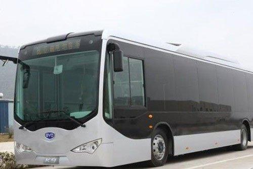 比亚迪电动客车K9下线 续驶里程超300KM高清图片