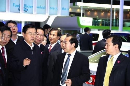 张德江副总理等领导参观2010年北京车展