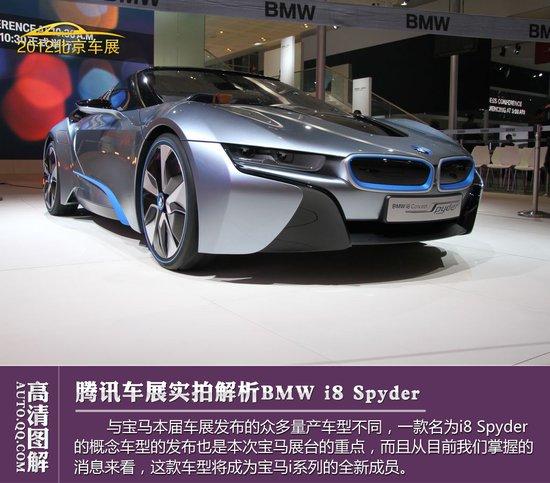 [图解新车]全新BMW i8 Spyder全方位解析