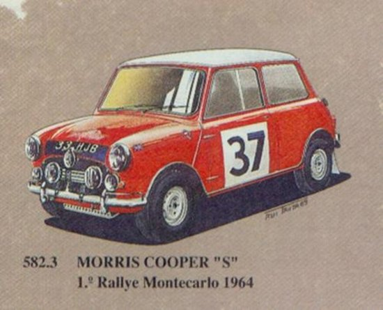 Morris Mini Cooper S蒙特卡洛拉力赛冠军