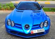 电镀蓝色Mercedes-Benz SLR McLaren
