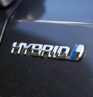 丰田普锐斯+混合动力标识