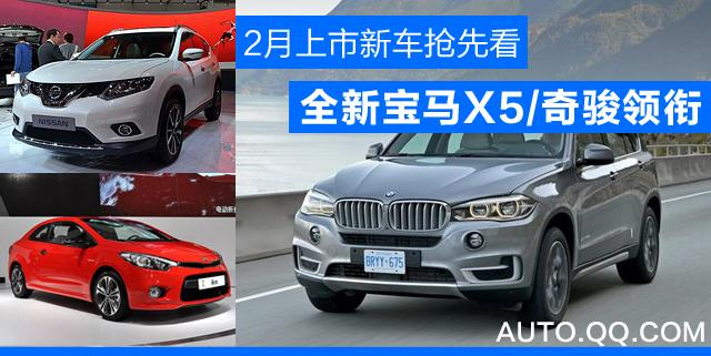 2月上市新车抢先看 全新宝马X5/奇骏领衔