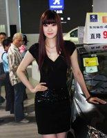 黑裙车模知性之美