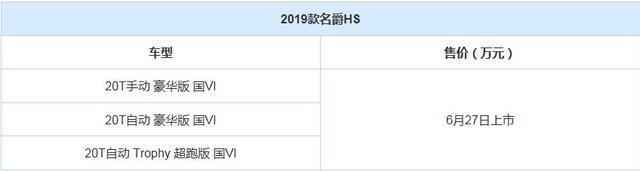 满足国六排放 新款名爵HS于6月27日面市