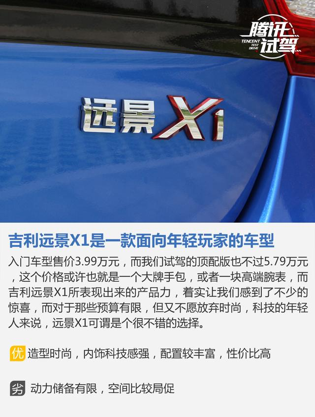 腾讯试驾吉利远景X1 1.3AT 以年轻的名义