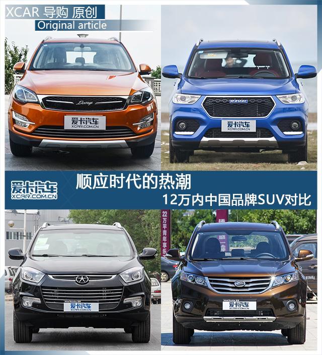 谁说众泰只会模仿 四款高性价比国产SUV对比