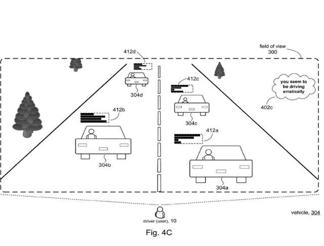 微软最新专利:AR用户驾驶时可评论其他驾驶员技术