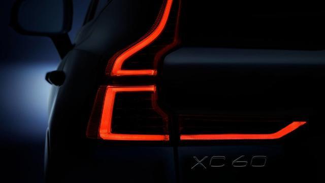曝沃尔沃全新XC60尾灯预告图 与XC90不同