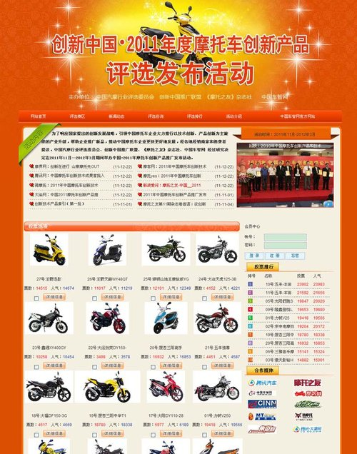 摩托车创新产品推广活动进入决选阶段