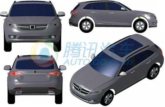 众泰新车专利申报图解析 包含三款SUV车型