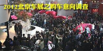 2012北京车展之购车意向调查