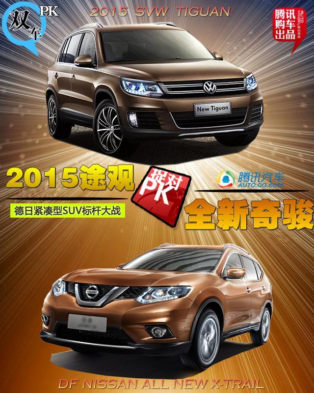 2015款途观PK奇骏 德日紧凑型SUV标杆大战