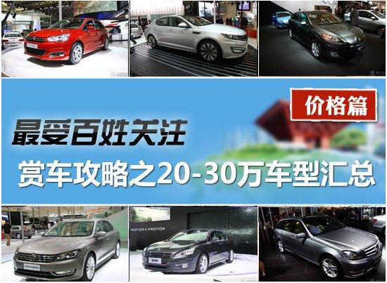 2011上海车展赏车攻略之20-30万车型汇总