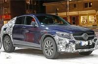 奔驰GLC Coupe最新低伪谍照 6月首发