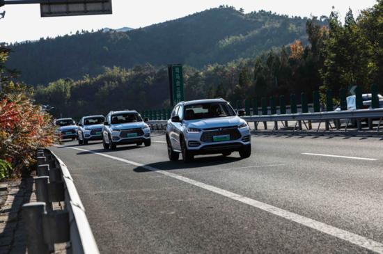 行走在京郊的七环路上,比亚迪宋EV 500二刷挑战完成