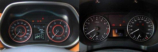 金杯f50整个仪表盘设计风格较为朴实,带有双红圈运动风格.