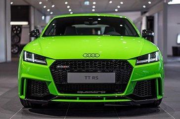 马力400匹《Audi TT RS》绿色新衣要高调
