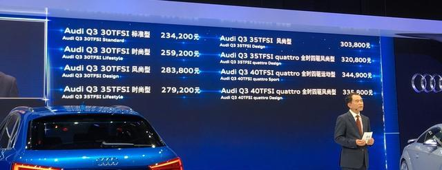【上市新车】一汽-大众奥迪Q3上市 售