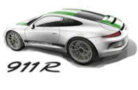 保时捷全新911 R疑似设计图 自吸/6MT/后驱