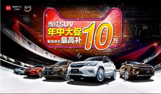 比亚迪当红SUV年中大促 综合优惠高达2.4万元