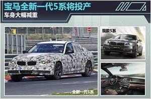 宝马全新一代5系将投产 车身大幅减重