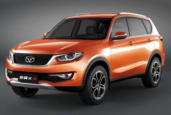 凯翼计划推X3/X5/X7三款SUV X3明年上市