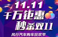 """""""千万钜惠 秒杀双11""""风行汽车狂欢购车节"""