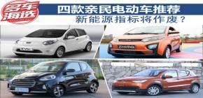 四款亲民电动车推荐 新能源指标将作废?