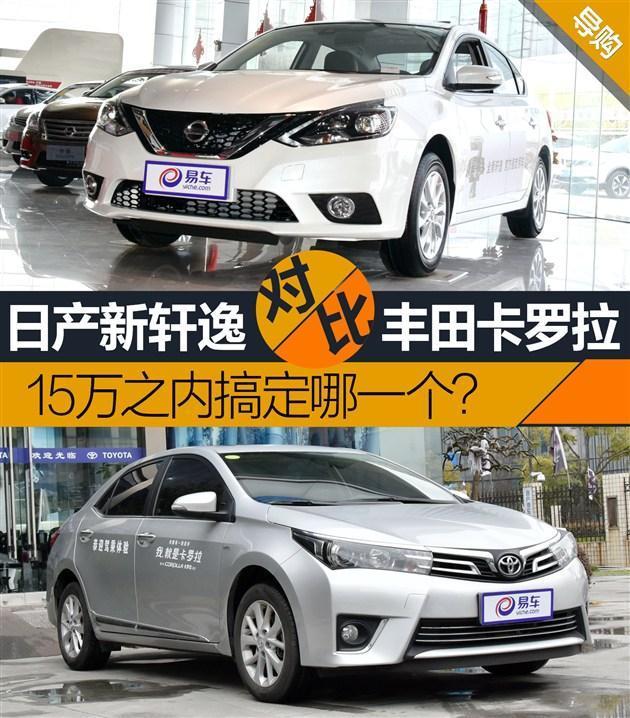 ...两款车型分别是轩逸2016款1.6XV CVT至尊版-新轩逸对比卡罗拉 15...图片 92274 630x718