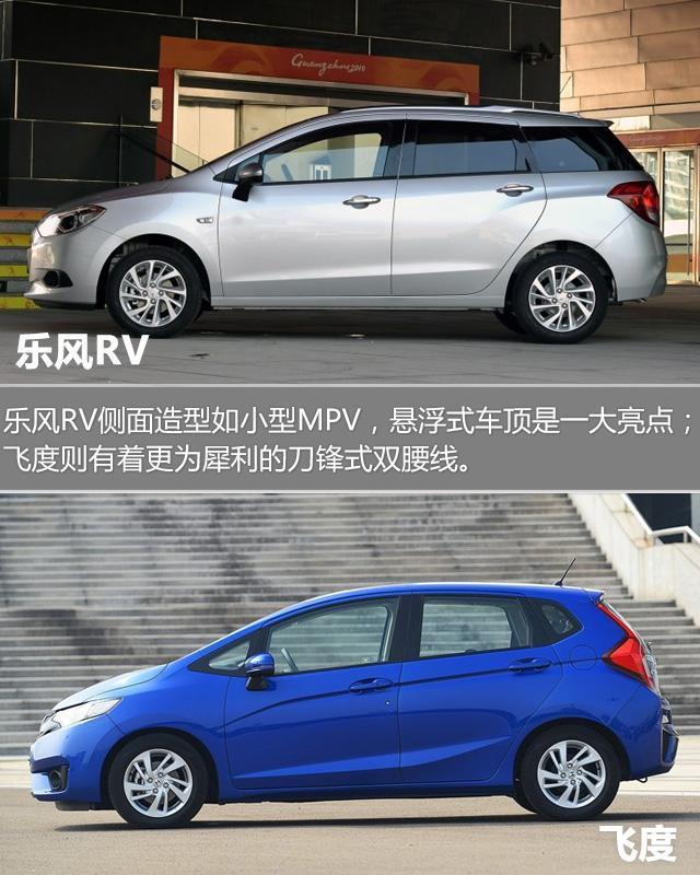 雪佛兰乐风RV对比本田飞度 小车大空间典范高清图片