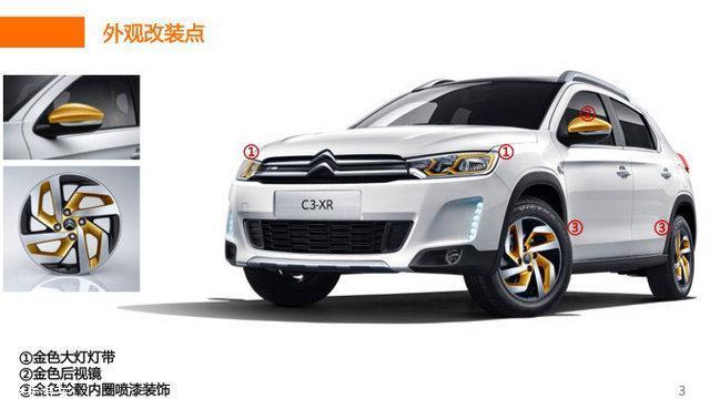 雪铁龙推2017款C3-XR炫金版 可选装
