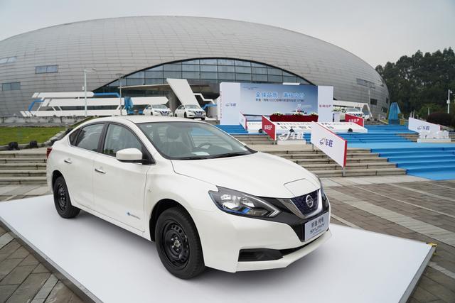 2018年11月15日,东风日产1000台轩逸·纯电交车仪式在广州花都东风