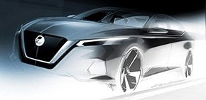 日产发布新款天籁预告图 或推增压/混动车型