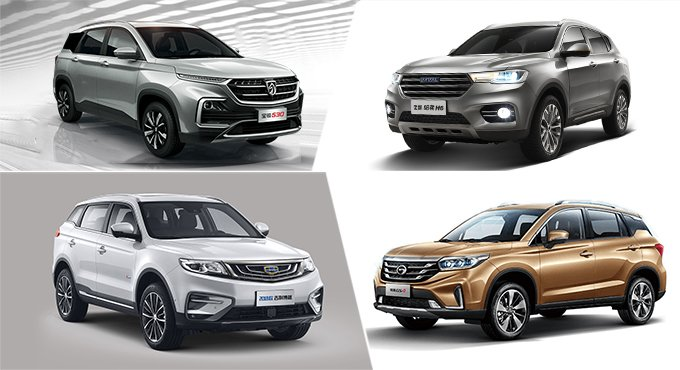 自主品牌四剑客 热销紧凑级SUV推荐