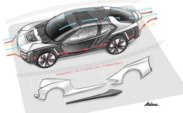 观致Model K-EV概念车预告图 另辟蹊径