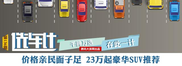 [选车计]价格亲民面子足 23万起豪华SUV推荐